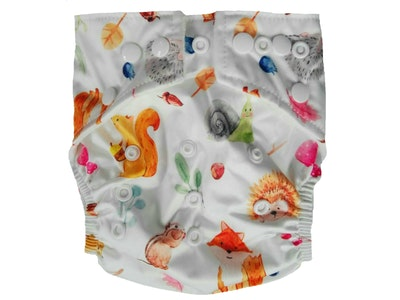 Hippybottomus Stay Dry Bamboo Cloth Nappy - Forest Animals