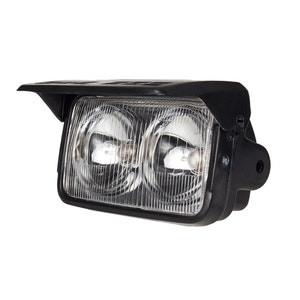 Dual Beam Headlight with Shield