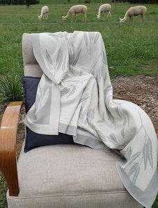 Luxurious Alpaca Blanket in Gum leaf