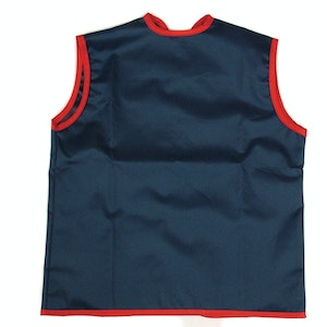 Silly Billyz Small Sleeveless Navy/Red Waterproof Painting Apron (0-3yrs)