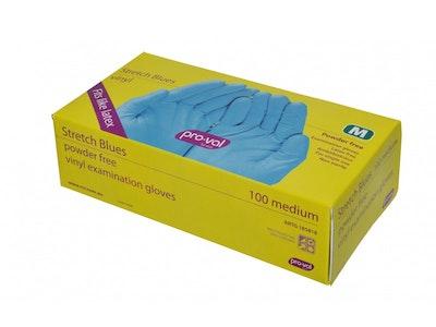 100 pack Powder-Free vinyl Examination Gloves
