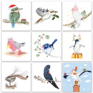 9 Feathery Friends Christmas Pack