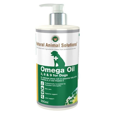 NAS Natural Animal Solutions Omega Oil 3 6 & 9 for Dogs  500ml