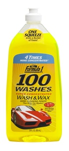 Formula 1 Wash & Wax Concentrated 100 Washes 828ml
