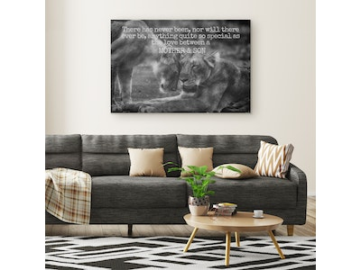 """Art Of A Kind Mother and Son Love Inspirational Canvas Wall Art 20x30"""""""