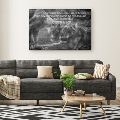 Art Of A Kind Mother and Son Love Inspirational Canvas Wall Art
