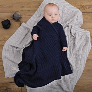 Jujo Baby All over luxury cable Shwrap™- navy