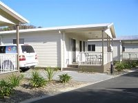 Modern cabins are more like a house at One Mile Beach Holiday Park Port Stephens