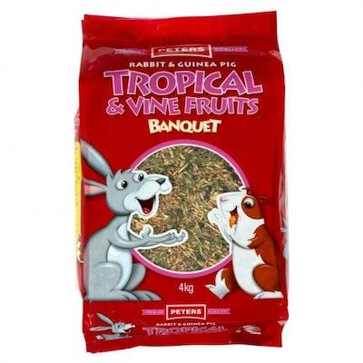 Peters Tropical & Vine Fruit Medley Rabbit and Guinea Pig Food Mix  4kg