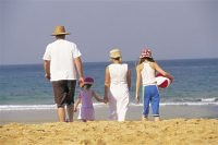 Families fit the scene at FPA pic courtesy Tourism NSW