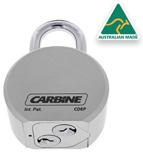 Carbine Single Shackle Dual Key High Security Padlock with both cylinders keyed differently (KD)