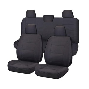 All Terrain Car Seat Covers For Toyota Hilux Workmate Dual Cab Utility 2016-2020   Charcoal