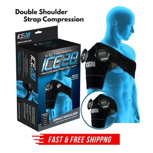 ICE 20 Double Shoulder Strap Compression Therapy Wrap Cold Pain Relief
