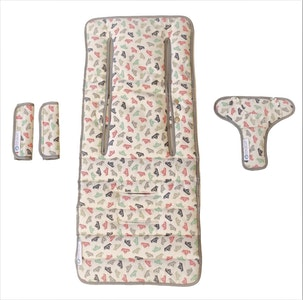 Keep Me Cosy™ Pram Liner Set + Harness & Buckle Cosy - Paper Boat