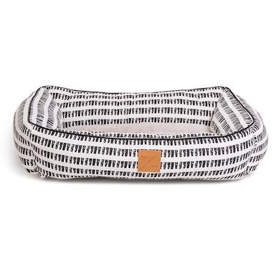 Mog & Bone Bolster Dog Bed Black & White Mosaic Print - 2 Sizes