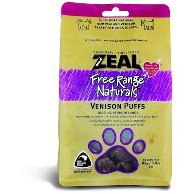 Zeal Free Range Naturals Venison Puffs Dog Treats 85G