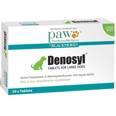 Paw Denosyl Large Dogs Liver Detoxification Aid Tablets 425mg 30 Pack