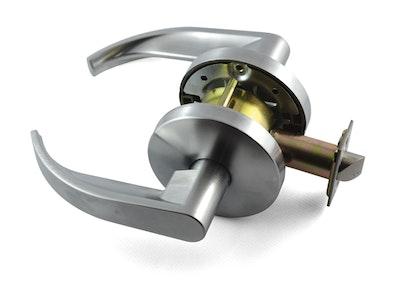 Carbine PD7082-L1 BCA & AS1428 complaint Passage lever set 70mm back set in satin chrome plate finish