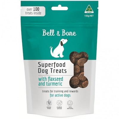 BELL & BONE Flaxseed & Turmeric Superfood Dog Treats 150G