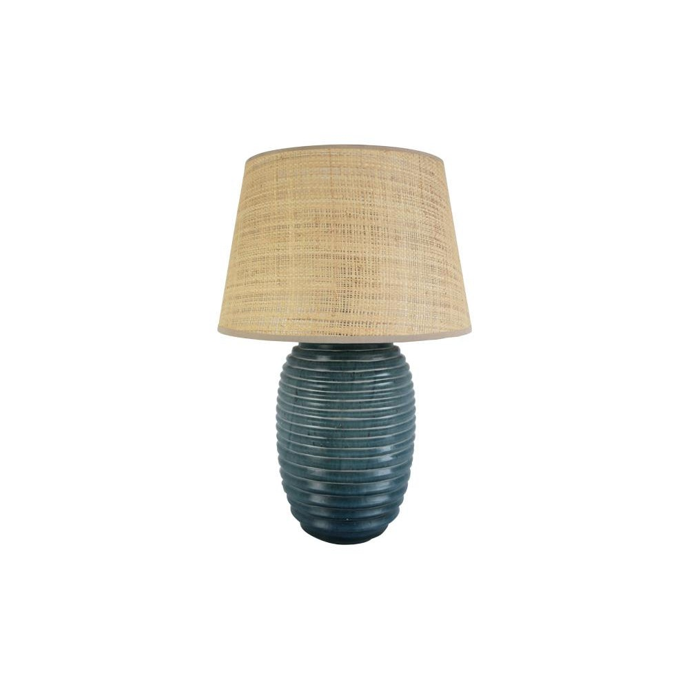 Birdie Fortescue Thuluth Ridged Glass Lamp - Blue