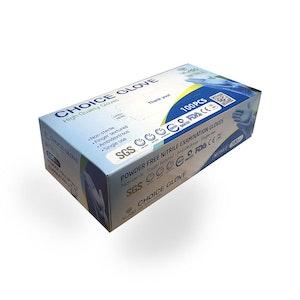 Disposable Powder-Free Nitrile Examination Gloves - Blue (100 Pack) Size Large