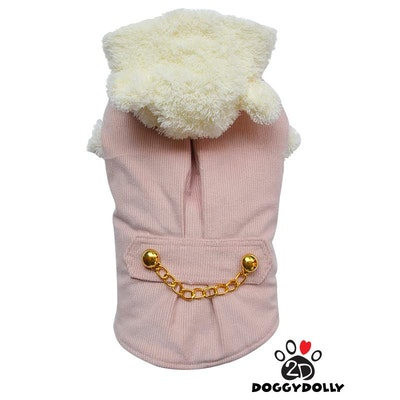 DoggyDolly SMALL DOG - Pink Doggy Coat with Hood