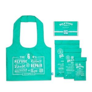 Onya Bulk Food Starter Sets made from recycled plastic drink bottles - Aqua
