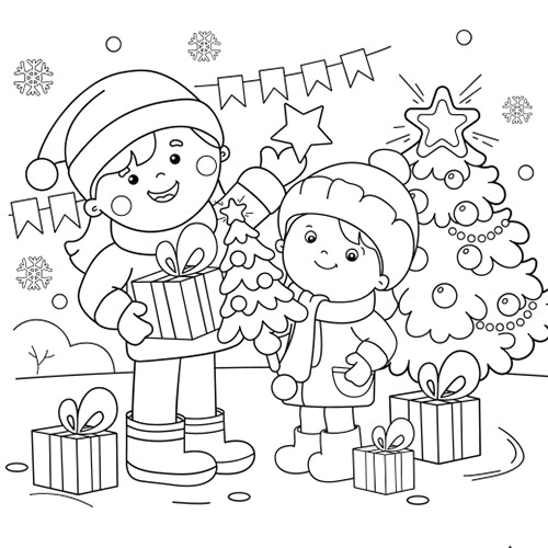 Jingle Bells - Free Colouring-in sheet