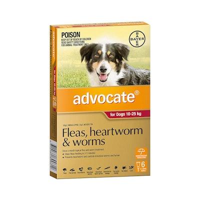 Advocate Dog 10-25KG 6 Tubes