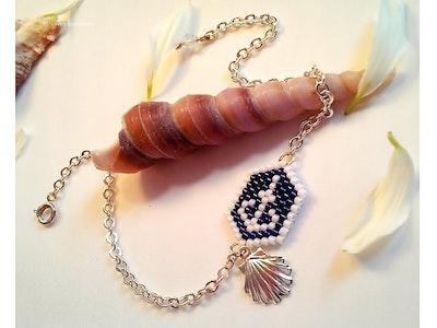 Glow Blue, Beach Style, Minimalist Miyuki Seed Bead Bracelet, Woven Bracelet, Beaded Bracelet