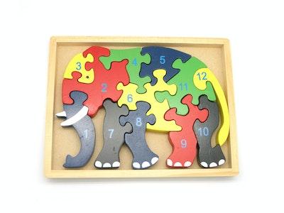 Kaper Kidz ELEPHANT JIGSAW IN TRAY 12PCS