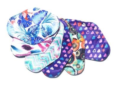 Eco Ladies REGULAR CLOTH PADS Sample pack of 3 various designs