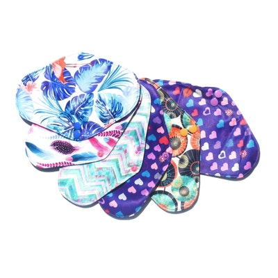 Eco Ladies REGULAR CLOTH PADS All small Pack of 12 various designs