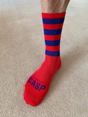 Casp Performance Cycling Ruby Stripe Socks