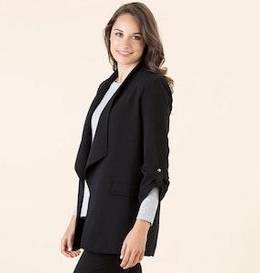 GORDON SMITH Drape Front Jacket Black