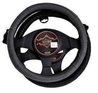 Memphis Steering Wheel Cover - Black [Leather]