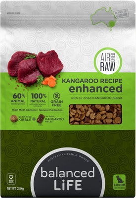 BALANCED LIFE Enhanced Kangaroo Air Dried Dog Food 2.5kg
