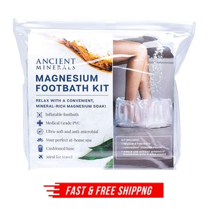 Ancient Minerals Inflatable Magnesium Foothbath Kit with Mag Flakes