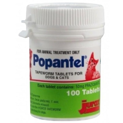 Popantel Tapeworm Dogs & Cats Treatment Tablets 100 Pack