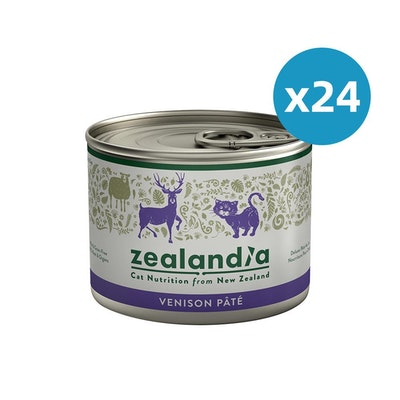 ZEALANDIA Venison Pate Cat Wet Food 185g x 24