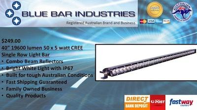 "40"" 19600 lumen 50 x 5 watt CREE Single Row Combo Beam Light Bar"