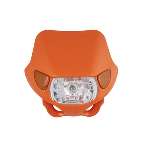 Halogen Motocross Headlight with Indicators - Orange