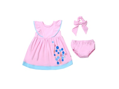 OETEO Australia Urban Kids Ruffle Dress Set (Pink)