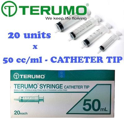 Terumo Syringe Catheter Tip 20 Units 50ml Hypodermic