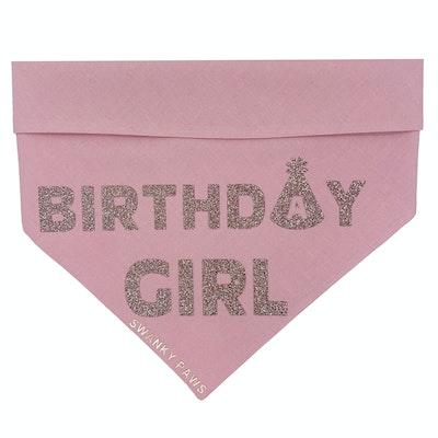 Swanky Paws Birthday Girl Dog Bandana