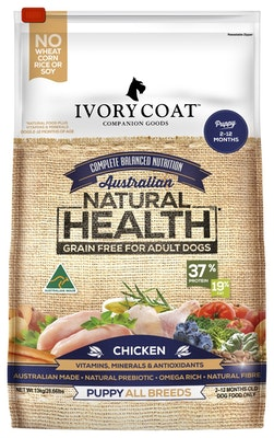 IVORY COAT Grain Free Dry Dog Food Puppy Chicken 13kg