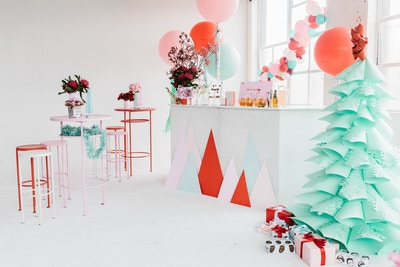 DIY Painted Christmas Trees