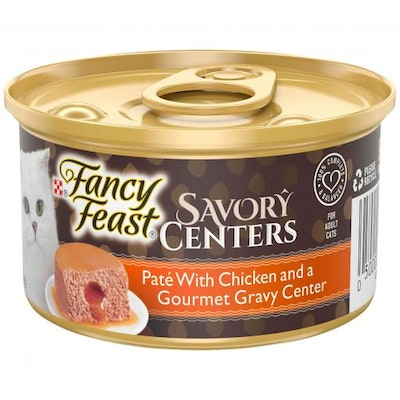 Fancy Feast Savory Centers Pate With Chicken and a Gourmet Gravy Center 85g