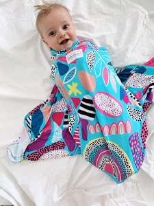 Bebe Luxe Rainbow Pop Bamboo Jersey Swaddle