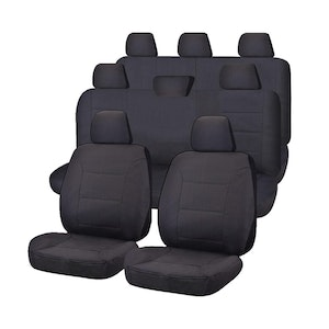 All Terrain Car Seat Covers for Toyota Landcruiser 200 4x4 SUV/Wagon 8-Seater 2008-2020 | Charcoal